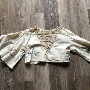 Tops - Embroidered and Crocheted Vintage Blouse